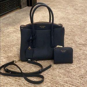 Kate Spade Margaux medium satchel. Navy NWOT